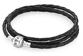 Triple Woven Leather Bracelet